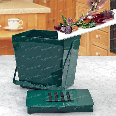 petit composteur de cuisine bio seau anti odeur 5l vert accessoire ustensile cuisine