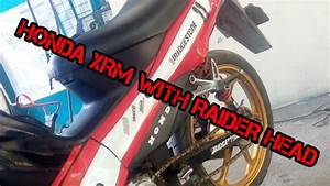 Modified Honda Xrm 110 With Raider Head