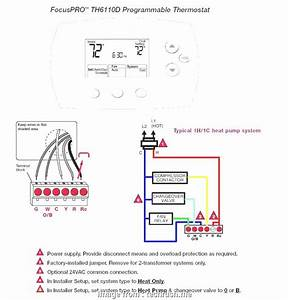 4 Pole Thermostat Wiring Diagram Best Honeywell Thermostat Wiring 4 Wire Round Diagram Heat Only
