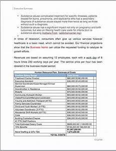 Order Template Excel Substance Abuse Rehabilitation Center Business Plan