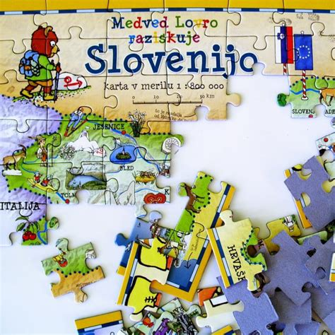 OTROŠKA SESTAVLJANKA SLOVENIJE - Medved Lovro raziskuje Slovenijo