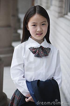 asian elementary schoolgirl royalty  stock image