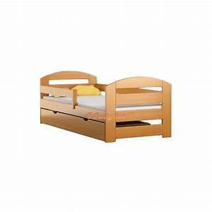 Lit Enfant Bois : lit enfant en bois de pin massif kam3 avec tiroir 160x70 cm lits 16 ~ Teatrodelosmanantiales.com Idées de Décoration
