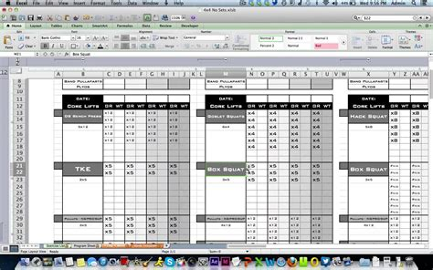 weight training spreadsheet template  excel spreadsheet