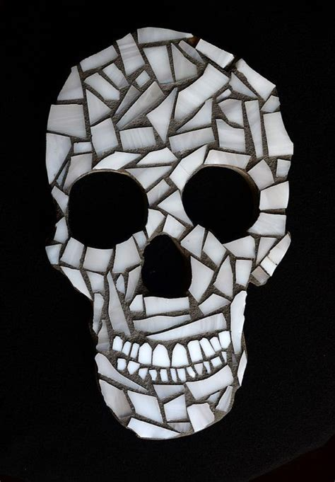 stained glass mosaic skull  thewindycity  etsy