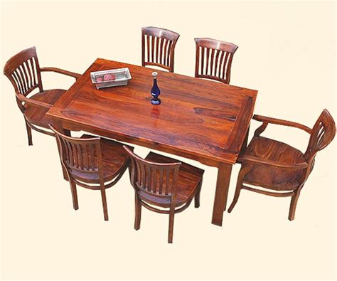 solid wood 7 pc formal kitchen dining table 6 side arm