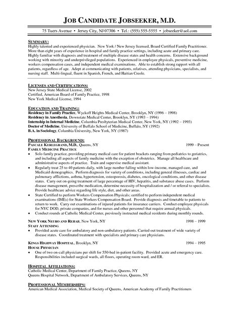 physician cv template best photos of physician cover letter for family records cover letter sles sle