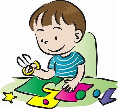 Craft Making Children Illustration Cheek