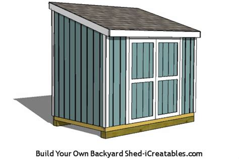 Shed Plans 6 X 12 by 6x8 Lean To Shed Plans Icreatables