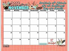 November 2016 Calendar and Print inkhappi