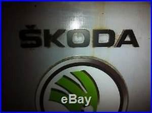 Skoda Auto Car Dealer Garage Vintage Light Box Sign Nt