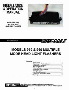 950 And 960 Flashers Installation Guide