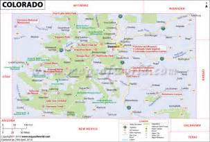 Colorado Map with Cities