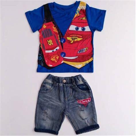 Setelan Koko Biru jual baju setelan anak laki gw 225 h kaos biru cars