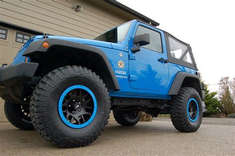lifted jeep blue blue jeep wrangler 2 door lifted my gallery