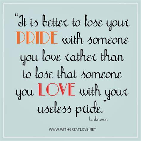 Pride Relationship Quotes