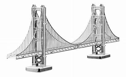 Bridge Gate Golden Metal Architecture 3d Earth