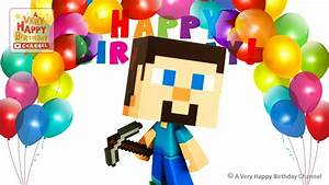 Minecraft Clipart Happy Birthday Pencil And In Color