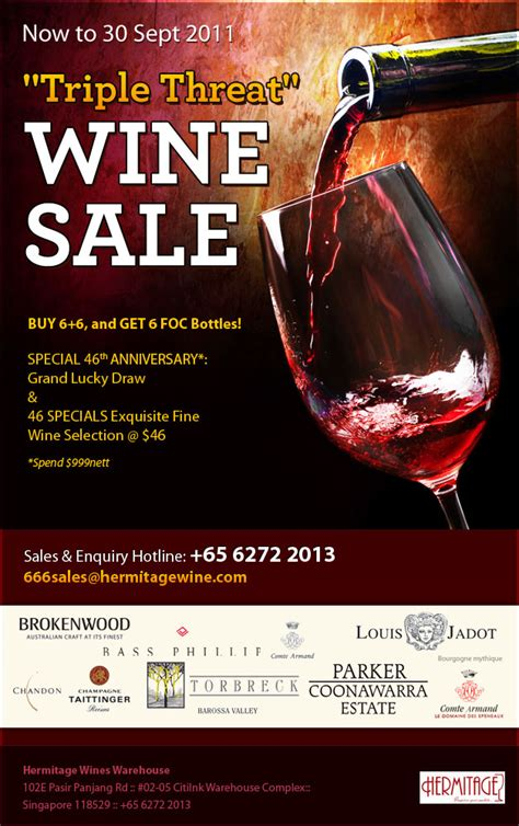 triple threat wine promotion  hermitage wines great