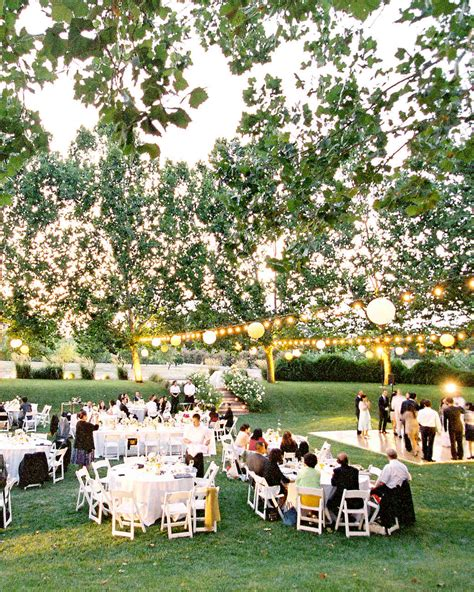outdoor wedding lighting ideas from real celebrations martha stewart weddings
