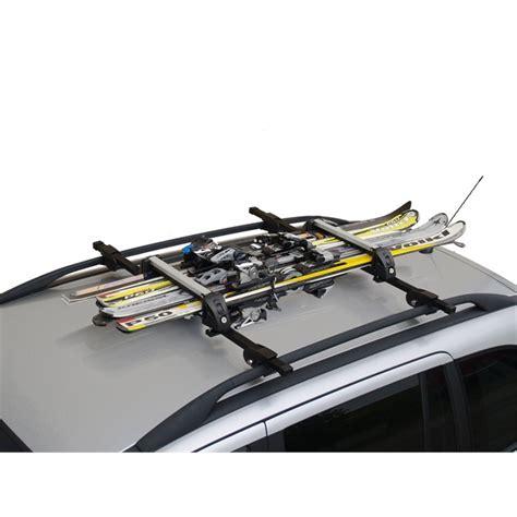 porte skis sur barres de toit menabo white 8597172 pour 4 paires de skis de fond ou 2