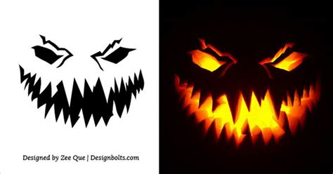 10 free printable scary pumpkin carving patterns