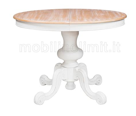 tavolo rotondo bianco allungabile tavolo allungabile rotondo bianco shabby 120