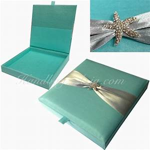 beach wedding invitation silk invitation box starfish With starfish wedding invitations in a box