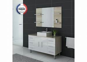 Ensemble meuble et vasque pour salle de bain meuble for Meuble salle de bain sur pied 120 cm