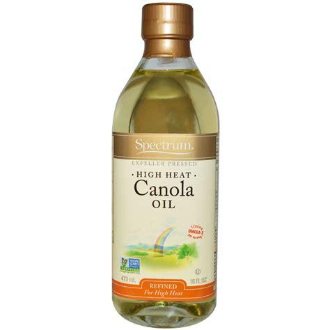 Spectrum Naturals, Canola Oil, High Heat, Refined, 16 fl