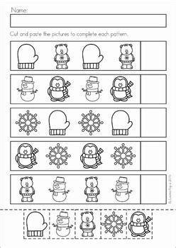winter preschool no prep worksheets activities winter