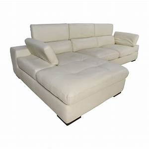 L Sofa : 69 off l shaped cream leather sectional sofa sofas ~ Buech-reservation.com Haus und Dekorationen