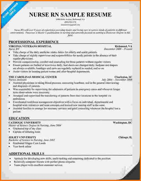 Experienced Rn Objective Resume by 6 Experienced Nursing Resume Sles Financial Statement Form