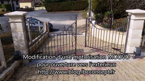 motorisation portail vers exterieur modification moovo ouverture vers l exterieur