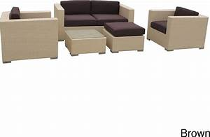 malibu collection 5 piece wicker outdoor sectional sofa With malibu outdoor sectional sofa