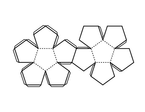 pattern  dodecahedron clipart