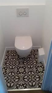 Carreaux De Ciment Adhesif Sol : realisation personnelle wc suspendu carreaux ciment ~ Premium-room.com Idées de Décoration