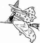 Witch Clipart Clip Flying Fairy Halloween Graphics Witches Hag Wicked Drawings Cliparts Thegraphicsfairy Victorian Silhouette Library Graphic Moon Tattoos Spooky sketch template