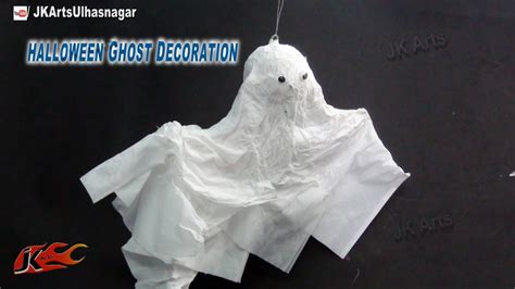 diy halloween flying ghost decoration    jk