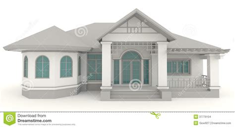 architecture house designs 3d retro house architecture exterior design in whi stock