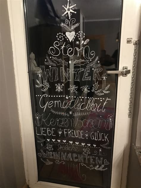 Fensterbilder Weihnachten Kreidestift by Kreidestift Weihnachten Fensterbild Chalkpaint