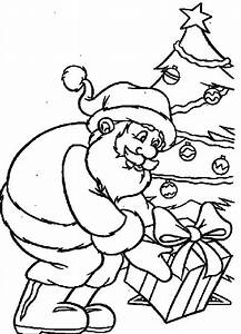Get A Christmas Gift From The Santa Claus Coloring Pages ...