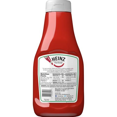 31 Heinz Ketchup Nutrition Label - Labels For You