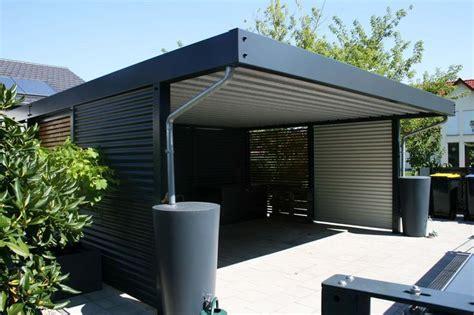 Design Metall Carport Aus Stahl Holz Blech Glas