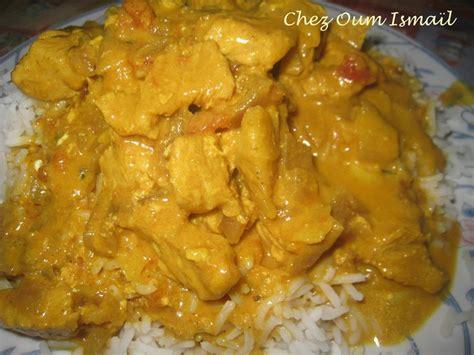 poulet au curry la cuisine facile de mymy