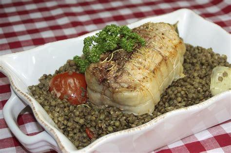 cuisine lentilles vertes recette filets mignons de porc aux lentilles vertes