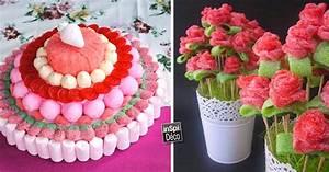 deco insolite avec des bonbons 20 idees pour vous inspirer With affiche chambre bébé avec bouquet fleurs et bonbons