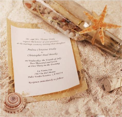 Seal And Send Beach Wedding Invitations To Set The Tone