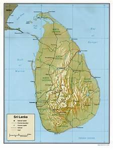 Kaart Zuid-Azië: Kaart Sri Lanka en Sri Jayewardenapura