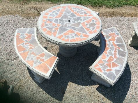 concrete patio table set patio table sets the cement barn manufacturers of